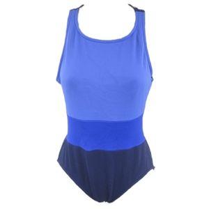 Jantzen Vintage 90's Color Block Swimsuit Sz 10